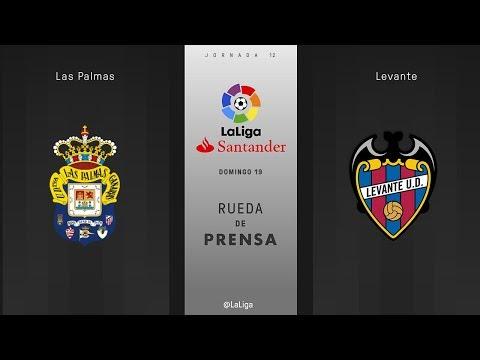 Rueda de prensa Las Palmas vs Levante