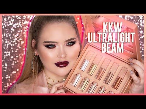 connectYoutube - KIM KARDASHIAN: KKW Ultralight Beam Glow + Glosses REVIEW!