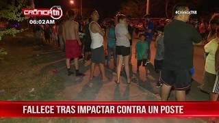 Nicaragua: Motociclista fallece tras impactar contra un poste en Las Américas 3