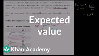 Getting data from expected value