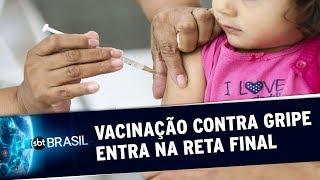 Menos de 20% das gestantes e crianças foram imunizadas contra gripe em SP | SBT Brasil (19/05/20)