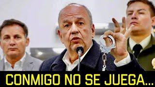 """CON EL MINISTRO MURILLO NO SE JUEGA """"CUANDO ENTRÉ A ESTE GOBIERNO SE ACABÓ EL NARCOTRÁFICO"""""""