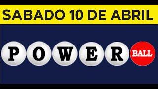 Resultados del sorteo Powerball del Sábado 10 de Abril de 2021
