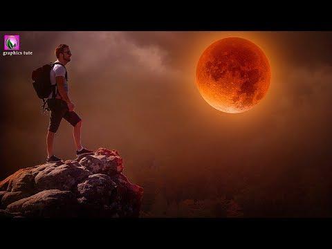 Super Orange Moon - Photo Manipulation Tutorial In Photoshop - Photoshop CC