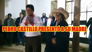 CANDIDATO PRESIDENCIAL PEDRO CASTILLO CONSIDERADO EVO MORALES DEL PERÚ EMPEZÓ CAMPAÑA EN SU TIERRA