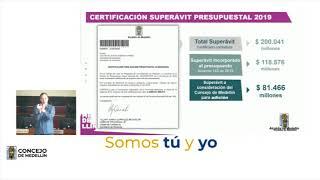 Inició la socialización de la adición presupuestal para Medellín  - Telemedellín