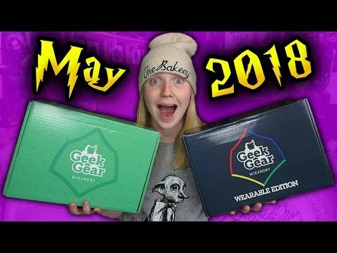 HARRY POTTER - GEEKGEAR WIZARDRY & WEARABLE UNBOXING - May 2018