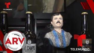 El Chapo Guzmán: Exhiben botellas de cervezas con su imagen   Al Rojo Vivo   Telemundo