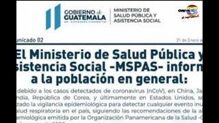 MSPAS refuerza vigilancia epidemiólogica por coronavirus