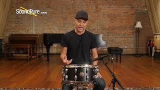 Gretsch 6.5x14 USA Custom Maple Snare Drum Satin Dark Ebony Quick 'n' Dirty