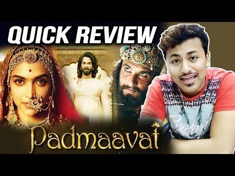 Padmaavat QUICK REVIEW | Deepika Padukone | Ranveer Singh | Shahid Kapoor