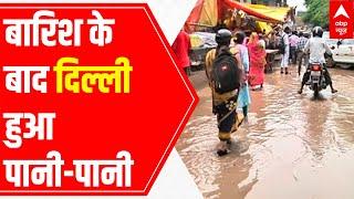 Severe waterlogging in Delhi's Sangam Vihar - ABPNEWSTV