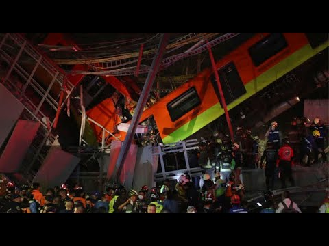 Al menos 23 muertos dejó desplome de viaducto del metro de Ciudad de México
