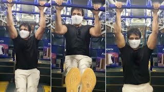 Actor Sonu Sood Workout Video | Sonu Sood  GYM Workout Video | Tollywood - TFPC