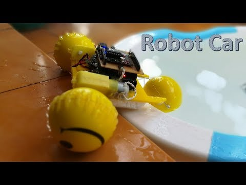 How to make a RC robot which can move on land and water