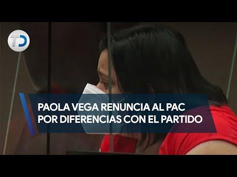 Paola Vega renuncia al PAC por diferencias con el partido