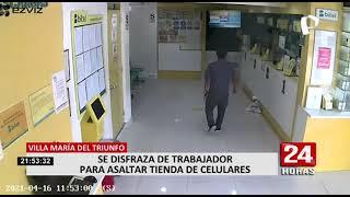 VMT: fingen ser trabajadores para asaltar tienda de celulares y llevarse más de S/ 8.000