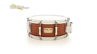 Pork Pie 5.5x14 Maple Snare Drum Quartered Mahogany Veneer-Quick 'n' Dirty