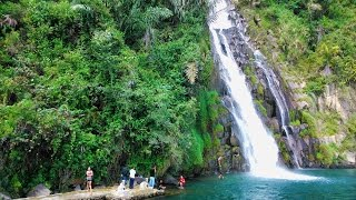 Air Terjun Binangalom di Danau Toba