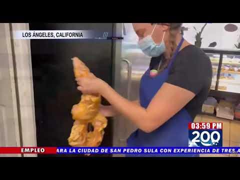 Hondureña conquista Los Ángeles con sus deliciosas Semitas Katrachas