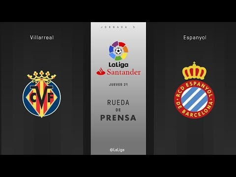Rueda de prensa Villarreal vs Espanyol
