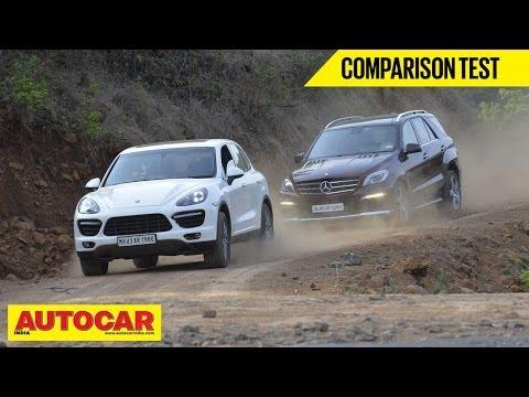 Mercedes-Benz ML 63 AMG vs Porsche Cayenne Turbo | Comparison Test - Porsche Videos