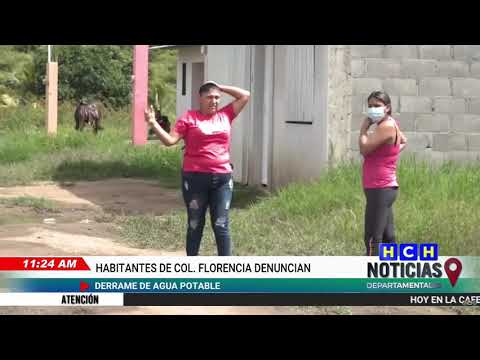 Habitantes de la col. Florencia denuncian derrame de agua potable en Danlí