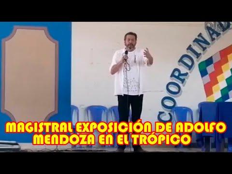 EXPOSITOR ADOLFO MENDOZA  TRANSFORMACIÓN DEL ESTADO EN EL TRÓPICO DE COCHABAMBA..