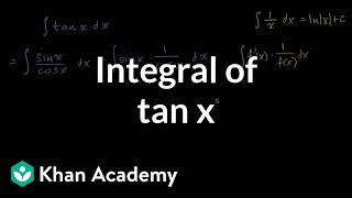 Integral of tan x