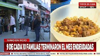Alarmante: Nueve de cada diez familias terminaron endeudadas