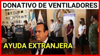 Donativo de ventiladores para el Ministerio de Salud Pública por parte de los Estados Unidos MEXIC..