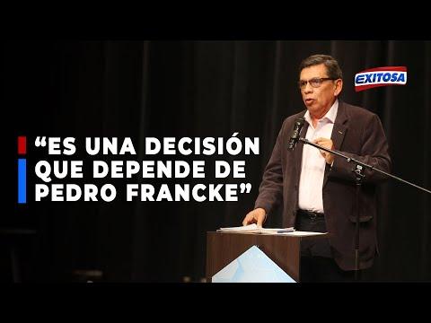Hernando Cevallos asegura que Pedro Francke continúa evaluando presidir el MEF: Todo depende de él