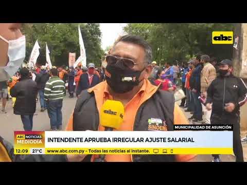 Intendente de Asunción aprueba irregular ajuste salarial