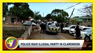 Police Raid Illegal Party in Clarendon, Jamaica | TVJ News - May 23 2021