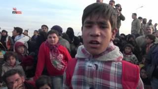 الآلاف من ريف حلب الشمالي عالقون على الحدود السورية التركية بسبب