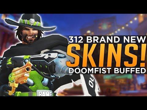 connectYoutube - Overwatch: 312 NEW Skins LIVE! - Doomfist BUFFED!
