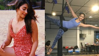 Pooja Hegde H0T Workout | Pooja Hegde Workout Video | Pooja Hegde GYM Workout Video - RAJSHRITELUGU