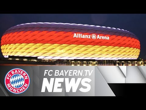 Allianz Arena shines in black, red and gold