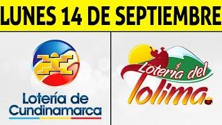 Resultados Lotería de CUNDINAMARCA y TOLIMA Lunes 14 de Septiembre de 2020   PREMIO MAYOR ????????????