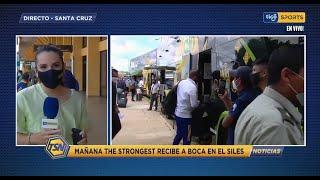 #TSNoticias???? Boca Juniors pisó suelo cruceño con fuerte protocolo de bioseguridad. #TigoSportBo?