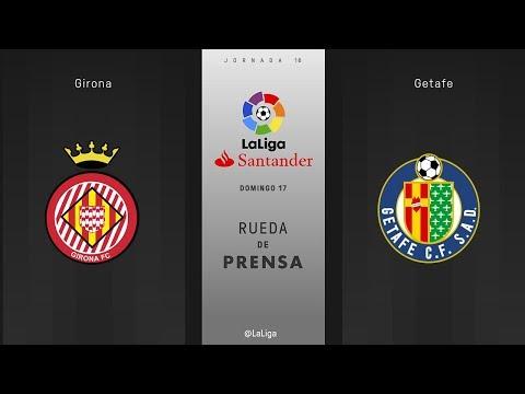 Rueda de prensa Girona vs Getafe