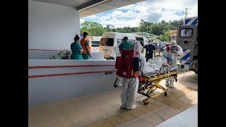 Megatraslado de pacientes COVID-19 por colapso de Hospital Pérez Zeledón
