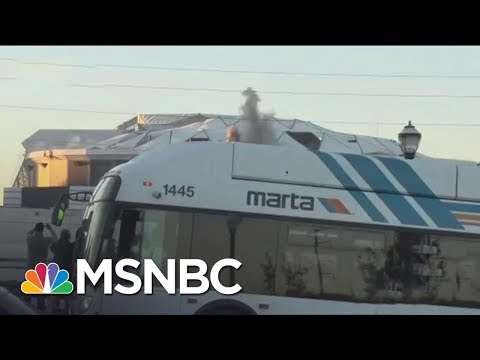 Atlanta City Bus Blocks View Of Imploding NFL Stadium | The 11th Hour | MSNBC