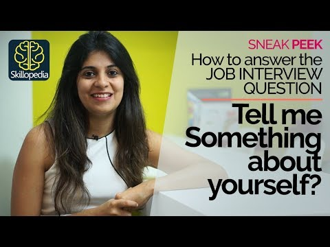 connectYoutube - Job Interview Question – Tell me something about yourself? – How to answer correctly?