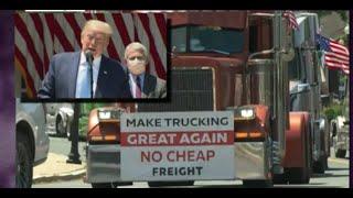 Camioneros de Miami quieren implementar el comunismo en los ESTADOS UNIDOS