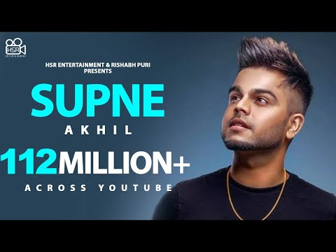 Supne-Akhil Full HD Video Song With Lyrics Mp3 Download