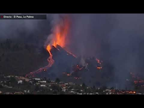 Volcán Cumbre Vieja en la isla española de La Palma entró en erupción