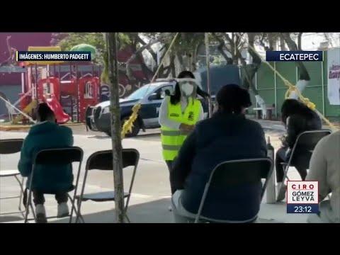 Alcalde de Ecatepec se hace promoción con tanques de oxígeno
