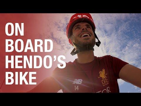 Tour de Reds | On board Jordan Henderson's bike ride to training in Germany