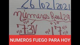 NUMEROS PARA HOY 26 DE FEBRERO DEL 2021 PARA TODAS LAS LOTERIAS